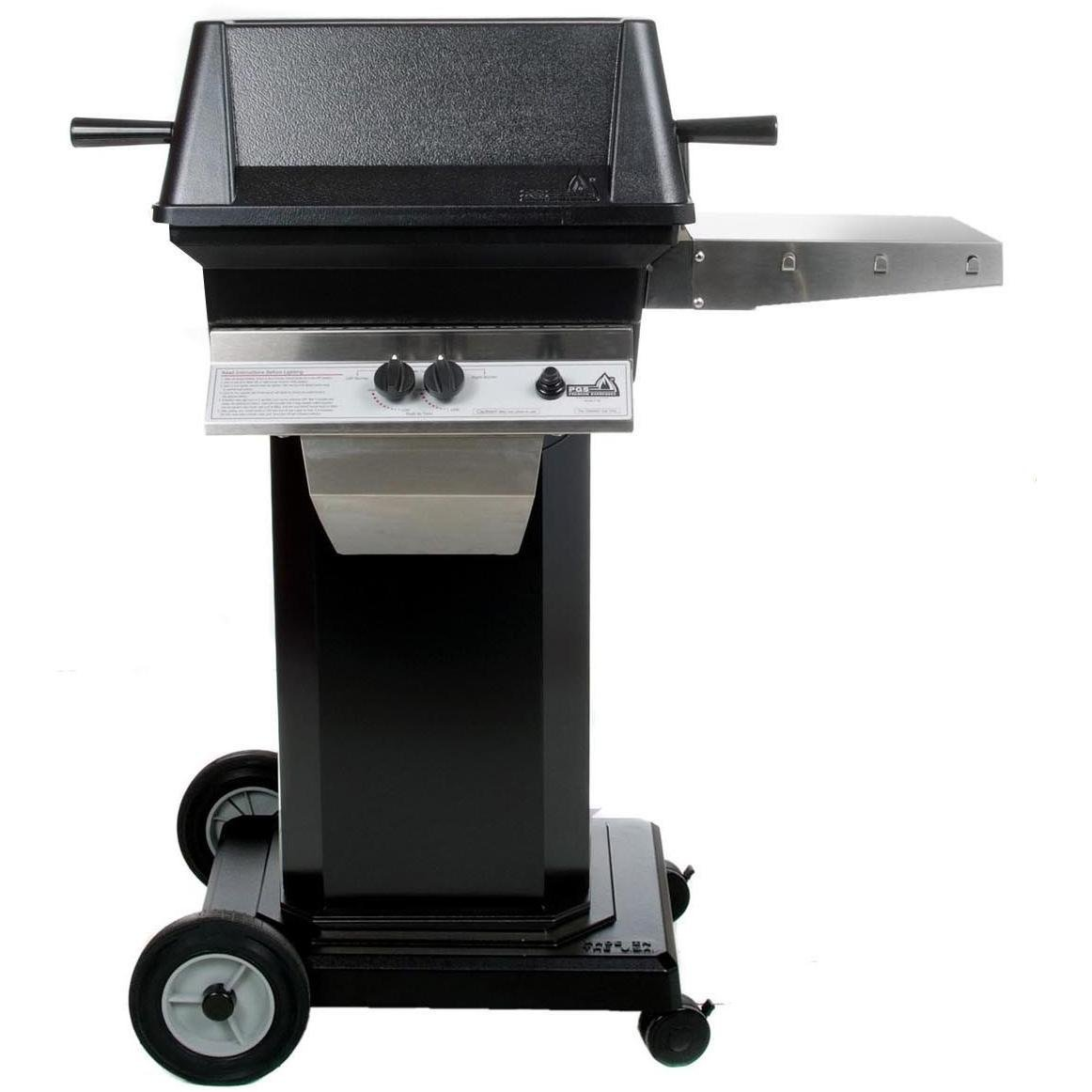 Pgs A30 Cast Aluminum Natural Gas Grill On Black Portable Pedestal Base