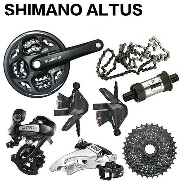 US $60 2 14% OFF|Shimano ALTUS M310 3x8 Speed 24s Groupset MTB Bike Bicycle  Crank Derailleur Shifter Cassette Chain 7PCS-in Bicycle Derailleur from
