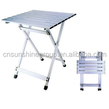 Low Price Aluminum Folding Table And Chair,camping Table,picnic Table For  Outdoor Use