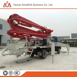 Remote control 25m 28M 30M 34M 38M Small /Medium Truck Mounted boom Concrete Pump Prices