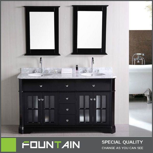 Swell Free Standing Classic Wooden Vanity Set Modern Double Basin Sink Solid Oak Bathroom Vanity Unit Buy Bathroom Vanity Unit Double Basin Bathroom Beutiful Home Inspiration Truamahrainfo