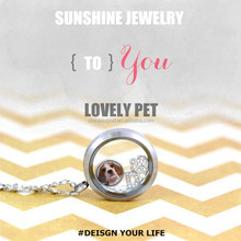 DIY Lovely Pet 30mm Stainless Steel Floating Charm Glass Container