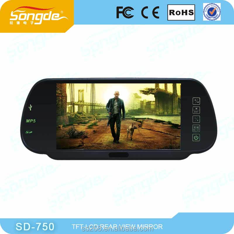 chinese car parts 7 inch rearview mirror monitor
