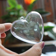 DIY Clear Transparent Heart Shape Plastic Containers for Party Decoration