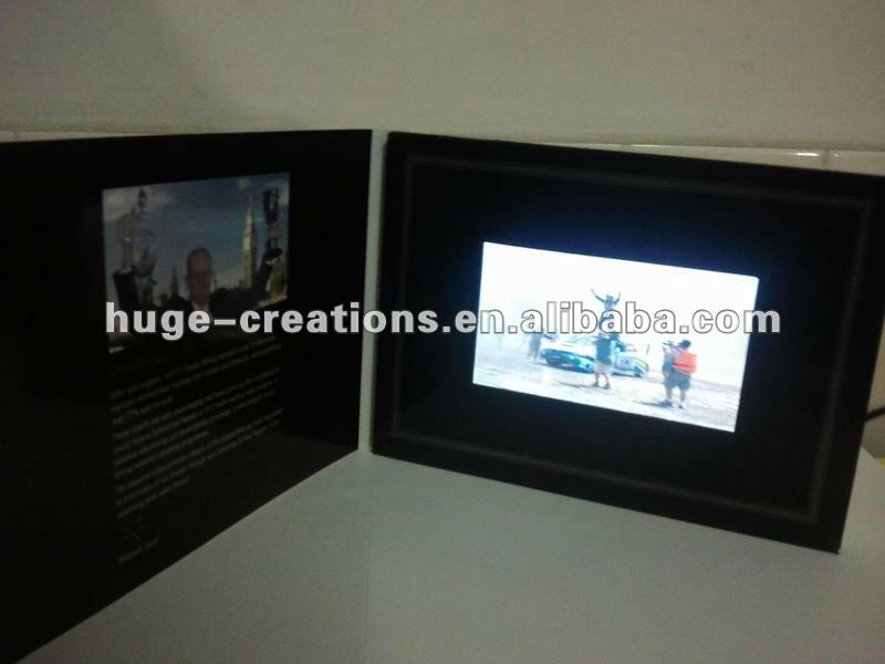 "2014 high quality Video palying promotional card, 2.4"",2.8"", 3.5""4.3"" 5' 7"""
