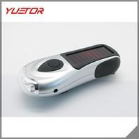Solar powered 3 LED Zoom Flashlight Adjustable Camping Light