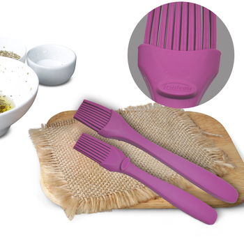 Vintage Rests 6 piece kitchen utensil set silicone brush roast brush