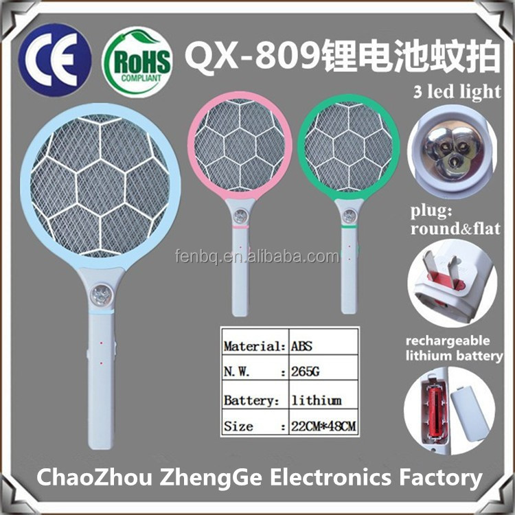 QX809-3 rechargeable electric round pattern mosquito zapper insect killer lithium battery long time use