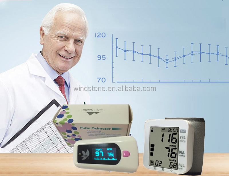 fingertip pulse oximter blood pressure monitor title