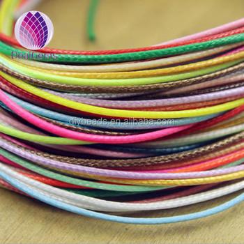 08a3435d2260 100 yarda rollo de 1mm poliéster trenzado cordón encerado hilo ambiental ...