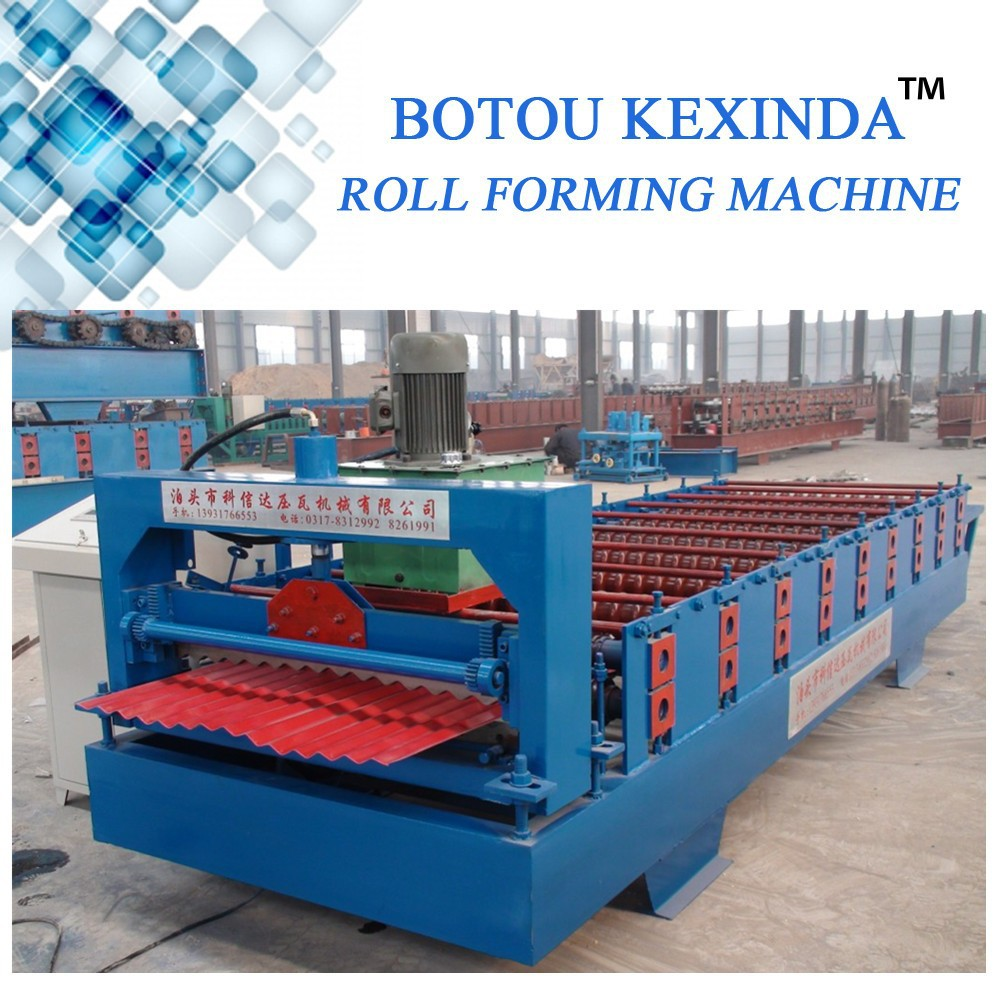 Automatic 850 Metal Roofing Corrugated Tile Roll Forming Machine/ Colored Steel Sheet Roll Making Line