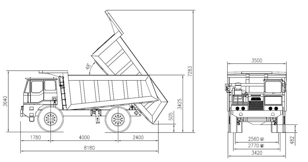autocad drawing of tractor trailers