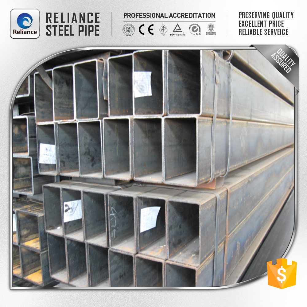china steel mills erw welded square and rectangular steel tube