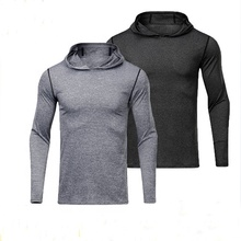 2019 newest fashion training running quick-dry loose elastic men's hoodies