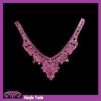 High Quality Garment Accessories Pink Rayon Lace Collar
