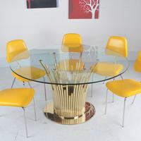 Modern Furniture Glass Kitchen Dining Dinette Table