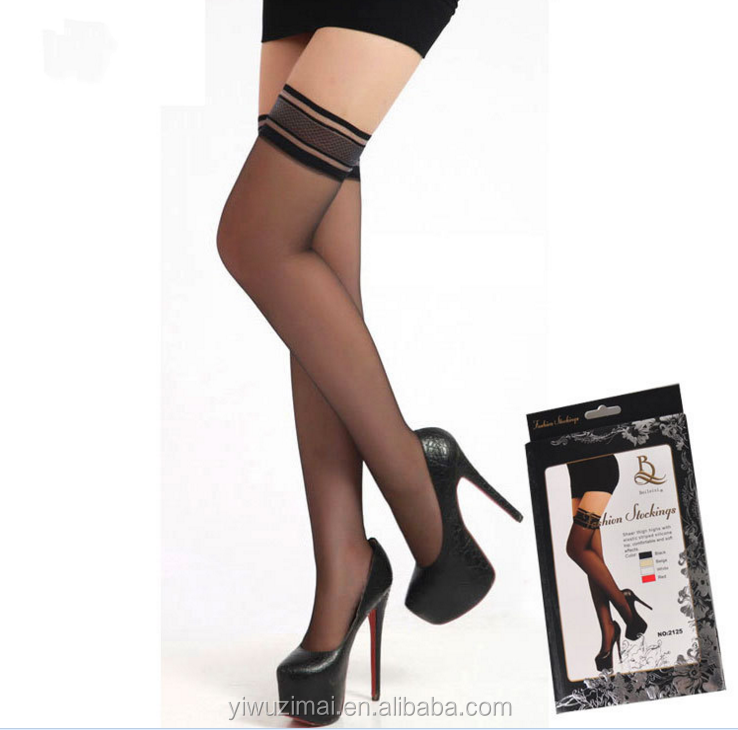 bc40b1405a5 Sexy Girls Fashionable Stay Up Silk Stocking With Silicon Band Hold Ups  Stockings
