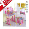 Height adjustable study table and chair used preschool furniture for sale