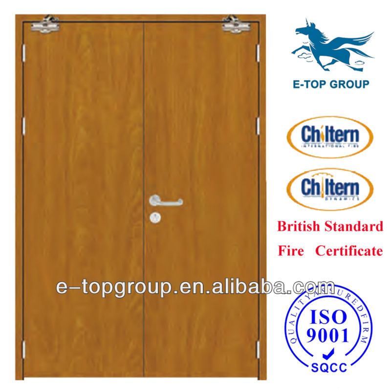 90 Minute Fire Rated Double Wood Fire Doors Residential Wood Fire ...