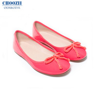 Choozii Slip-on Children Patent Leather Mary Sweet Color Jane Anti-Odor Hard-Wearing With bow-knot Flat Shoes for Girl