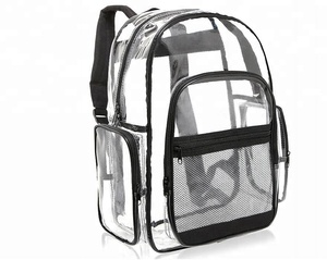 Clear Transparent PVC Multi-pockets School Backpack Outdoor Backpack