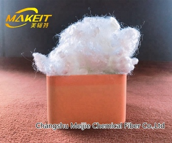 Hollow conjugated Siliconized  polyester staple fiber virgin