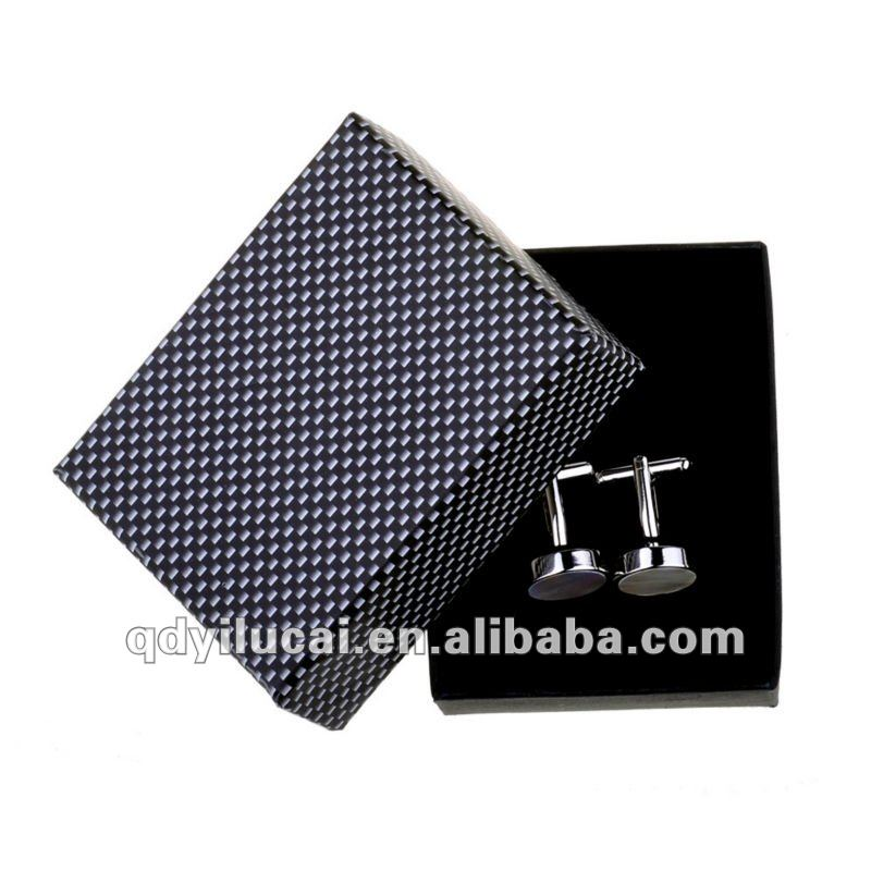 Cardboard cufflink box packaging