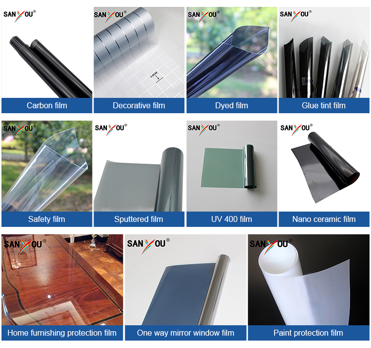Su misura 18% VLT di costruzione di sole auto-adesivo decorativo finestra specchio in un modo pellicola
