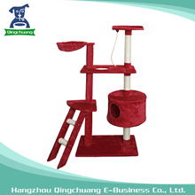 Multi-layer Red Cat Tree Cat Indoor Climbing Frame for Cat Playing