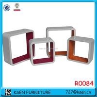 MDF Cube Wall Shelf Floating/wall shelf set R0084