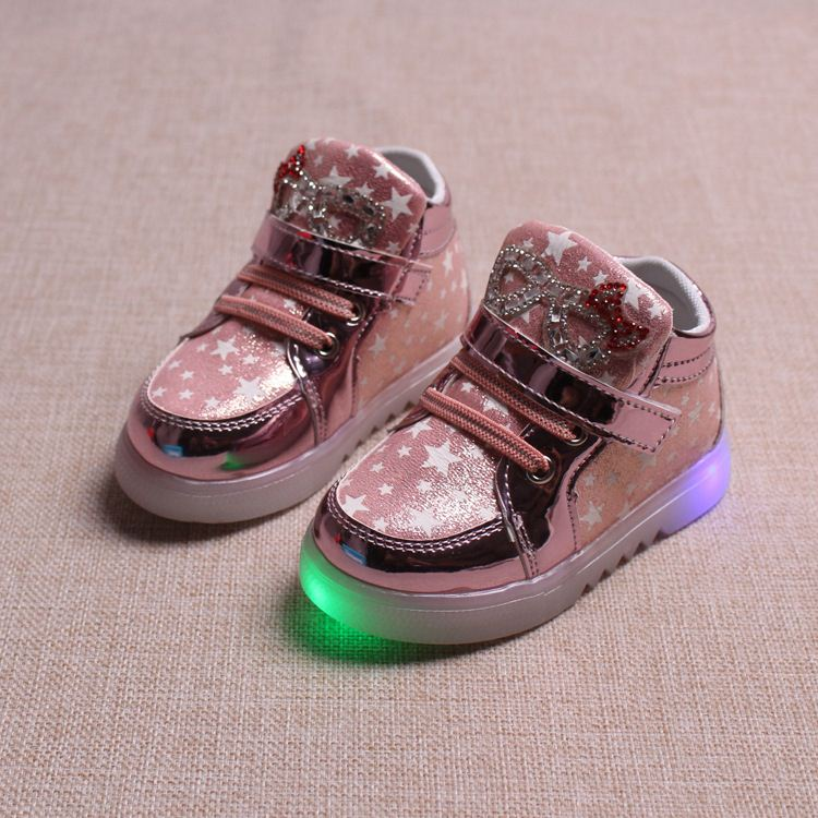 2016 Hot selling children LED sail cloth shoes