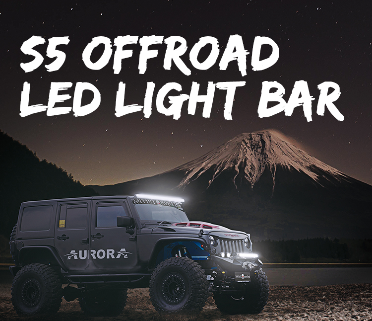 Aurora S5 20 Inch 6500K 10000LM Offroad Car Single Row LED Light Bar