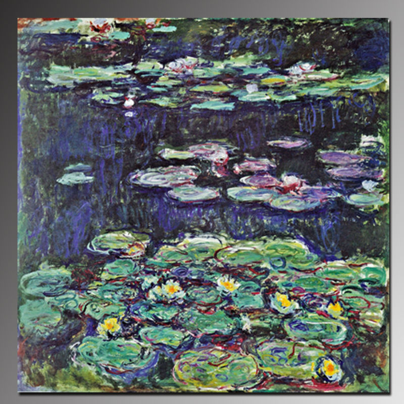 BC13-9634 High Quality Water Lilies Oil Paintings by Artists Claude Monet