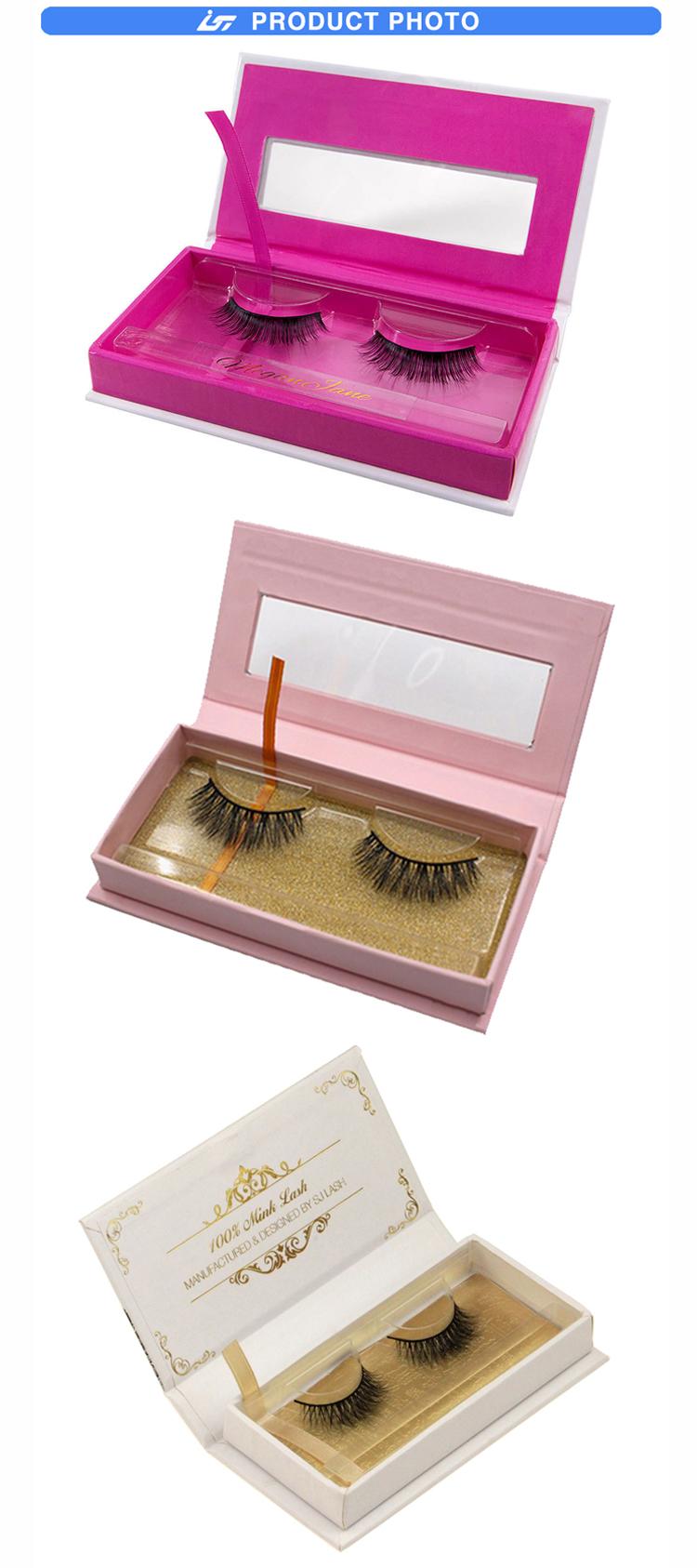 Kustom Magnetik Paket Kotak Glitter Bulu Mata Kemasan