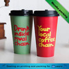 20oz full color customized take out hot drinking paper cup with black/white lids