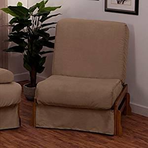 EpicFurnishings Boston Perfect Sit & Sleep Transitional-style Pillow Top Chair Sleeper Oak/Slate