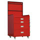 metal workshop 4 drawers tool trolley steel movable car tool cabinets