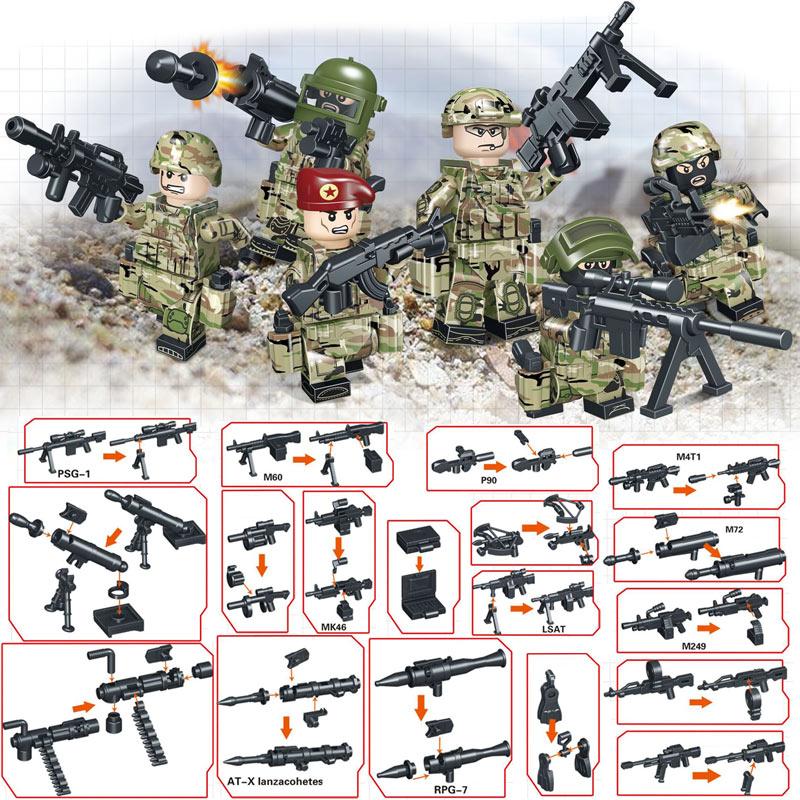 Kitoz Полицейский спецназ игрушка фигурки строительные блоки с оружием игрушка для мальчика дети ребенок совместим с lego(Китай)