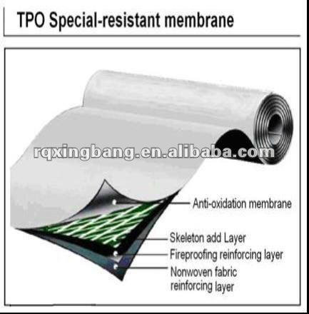 Tpo Roofing Membrane/tpo Roof Waterproof Material   Buy Outdoor Roofing  Material Waterproof,Green Roof Waterproofing Membrane,Polymer Bitumen  Waterproofing ...