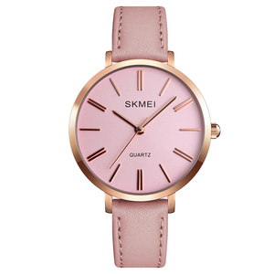 wristwatches for ladies 1397 skmei woman watch leather wrist pink watch