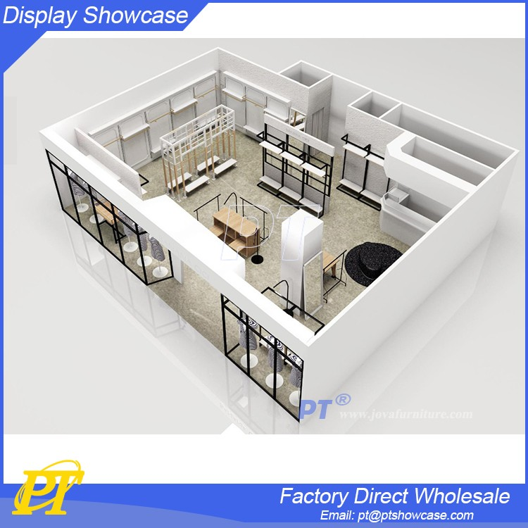 Department Retail Store Furniture Display Clothes Wood