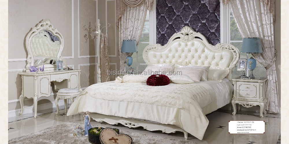 Classic White Wood Luxury Carving Antique Bedroom Furniture - Buy White  Wooden Bed,White Bedroom Furniture,Antique Bedroom Furniture Product on ...