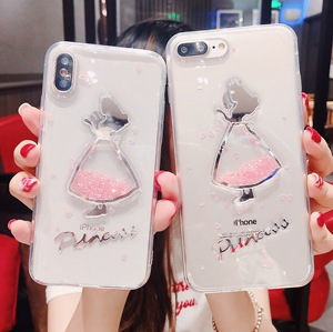 Dress girl phone cases covering protective for iphone 6 7 8 X XS XR max
