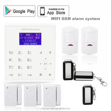 Smart 39 wireless/ 4 wired zone Call+GSM+SMS , 1 group of adminID wolf guard alarm system