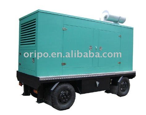 Shangchai moving mobile trailer generator