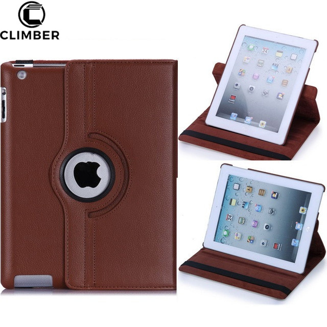 For iPad 10.5 Air 2 3 4 Case With Auto Sleep Wake 360 Degree Rotating Stand Cover For iPad Pro 9.7 12.9 Inch 2017 Tablet Cover