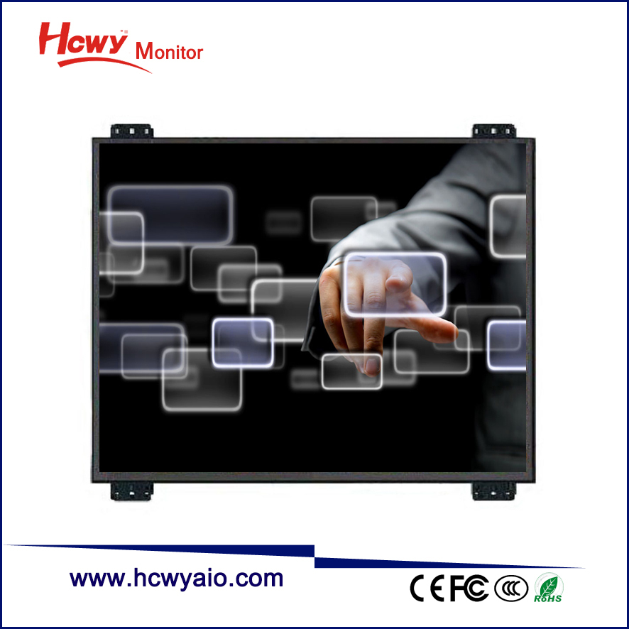 "Embedded 7"" 8"" 10"" 12"" 15"" 17"" Monitor Frameless / General Touch Open Frame Touch Screen Monitor"