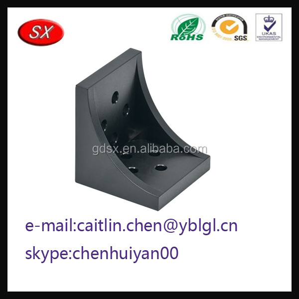 China manufacture Custom Cast Corner Bracket to connect v slot aluminum profile