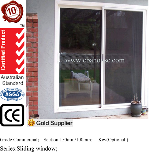 Two track aluminum sliding window and doors comply with Australian standards & New Zealand standards