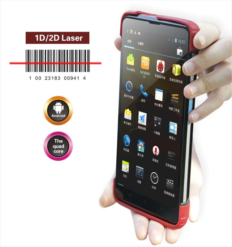 GPS PDA Android V5.1 OS 5 inch handheld Android tablet with 1D 2D Barcode Scanner android barcode scanner